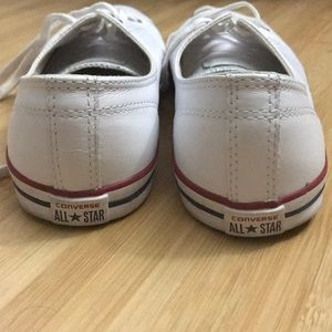 Converse Shoes - White Leather Converse All Stars, women's size 9